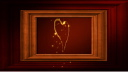 Royalty Free Video of a Rotating Heart in a Wooden Frame