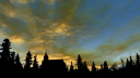 Royalty Free HD Video Clip of a Sunset Over a Church