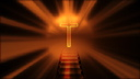 Royalty Free HD Video Clip of a Shining Light Behind a Cross