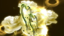 Royalty Free HD Video Clip of Rotating Shimmering Hearts and Roses with Wedding Rings
