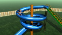Royalty Free HD Video Clip of a Teddy Bear Going Down a Circular Slide