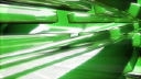 Royalty Free HD Video Clip of Green Tube Cubes