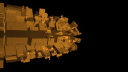 Royalty Free Video of a Turning Abstract Gold Shape