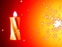 Royalty Free Video of a Candle and Flashing Light