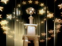 Royalty Free Video of a Trophy and Stars