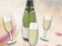 Royalty Free Video of Champagne Bottles and Glasses