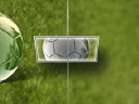 Royalty Free Video of a Soccer Ball Reflected Between Turning Frames