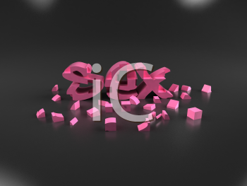 Royalty Free 3d Clipart Image of the Word Sex
