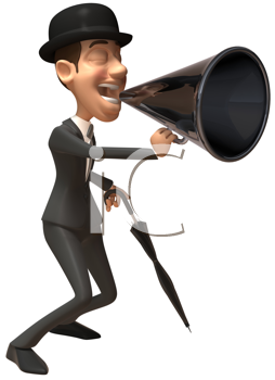 Royalty Free Clipart Image of an English Gentleman
