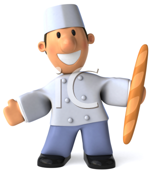 Royalty Free Clipart Image of a French Baker