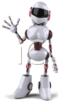 Royalty Free Clipart Image of a Female Robot