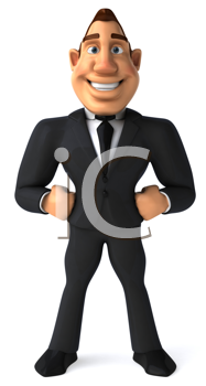 Royalty Free Clipart Image of a Business Person