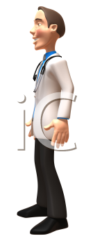 Royalty Free 3d Clipart Image of a Physician