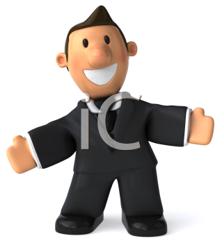 Royalty Free Clipart Image of a Man in a Business Suit