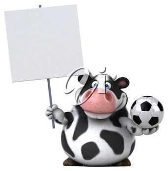Fun cow - 3D Illustration