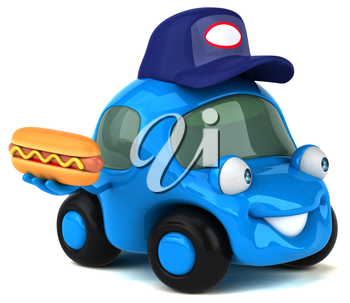 Fun car - 3D Illustration