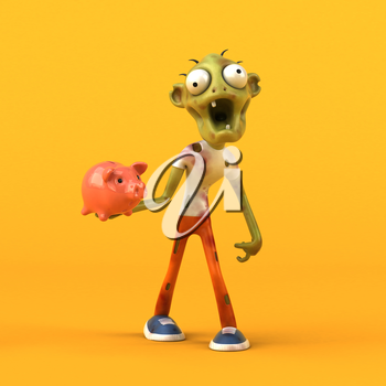 Fun zombie - 3D Illustration