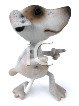 Royalty Free 3d Clipart Image of a Jack Russell Terrier Dog Dancing