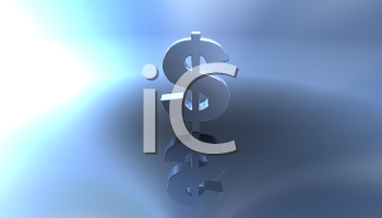 Royalty Free 3d Clipart Image of a Dollar Sign