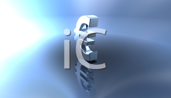 Royalty Free 3d Clipart Image of a Euro Sign