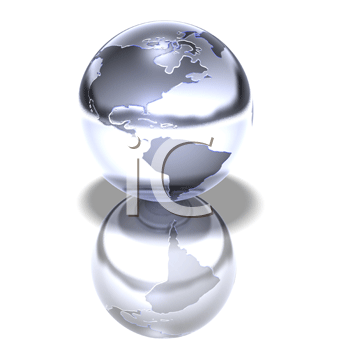 Royalty Free 3d Clipart Image of a Globe
