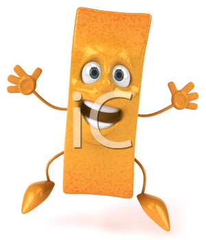 Royalty Free Clipart Image of a Jumping French Fry