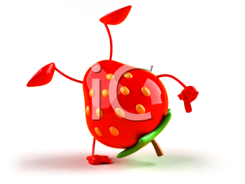 Royalty Free 3d Clipart Image of a Strawberry