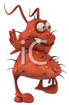 Royalty Free Clipart Image of a Germ