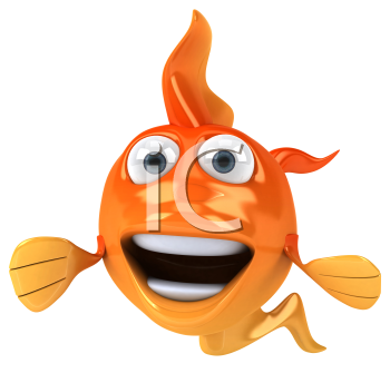 Royalty Free Clipart Image of a Fish