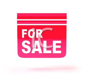 Royalty Free 3d Clipart Image of a For Sale Sign