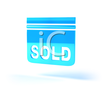 Royalty Free 3d Clipart Image of a Sold Sign