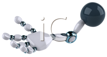 Royalty Free Clipart Image of a Robot Hand