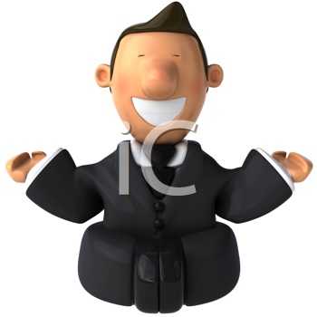 Royalty Free Clipart Image of a Businessman Meditating