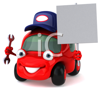 Royalty Free Clipart Image of a Car Mechanic