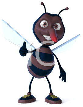 Royalty Free Clipart Image of a Mosquito