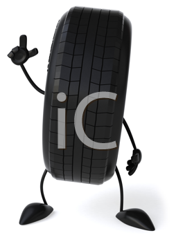 Royalty Free Clipart Image of a Tire