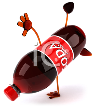 Royalty Free Clipart Image of a Bottle of Soda