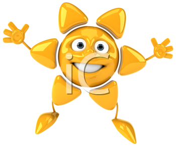 Royalty Free Clipart Image of a Happy Sun