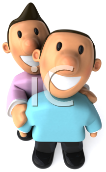 Royalty Free Clipart Image of a Gay Couple