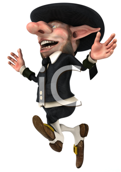 Royalty Free Clipart Image of a Happy Korrigan
