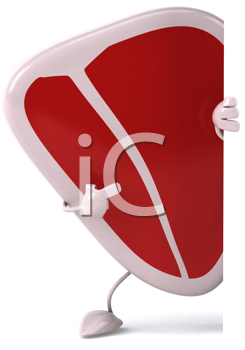 Royalty Free Clipart Image of a Pointing Chop