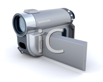 Royalty Free Clipart Image of a Camcorder