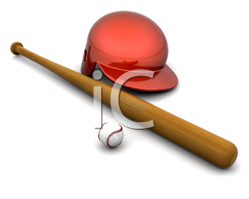 Royalty Free Clipart Image of Baseball Equipment