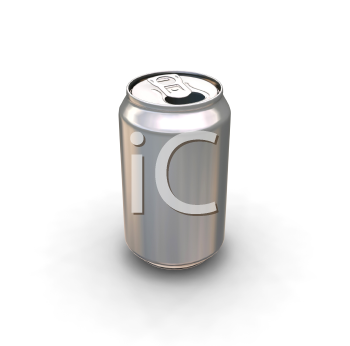 Royalty Free Clipart Image of a Soda Can