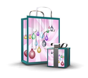 Royalty Free Clipart Image of a Christmas Presents