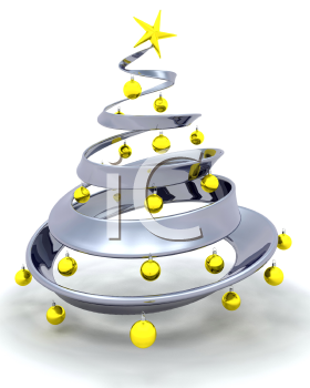Royalty Free Clipart Image of a Modern Christmas Tree