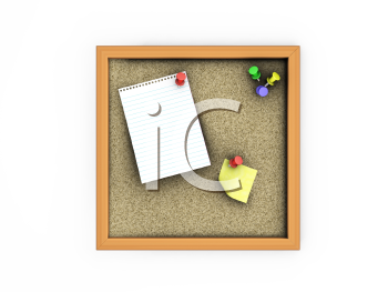 Royalty Free Clipart Image of a Cork Board
