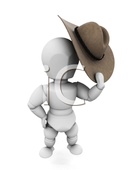 Royalty Free Clipart Image of a Cowboy