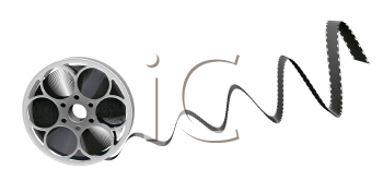 Royalty Free Clipart Image of a Film Reel
