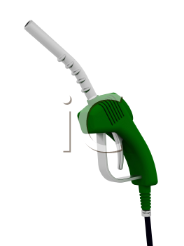 Royalty Free Clipart Image of a Fuel Pump Nozzle
